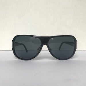 Prada Black Geometric Aviator Sunglasses